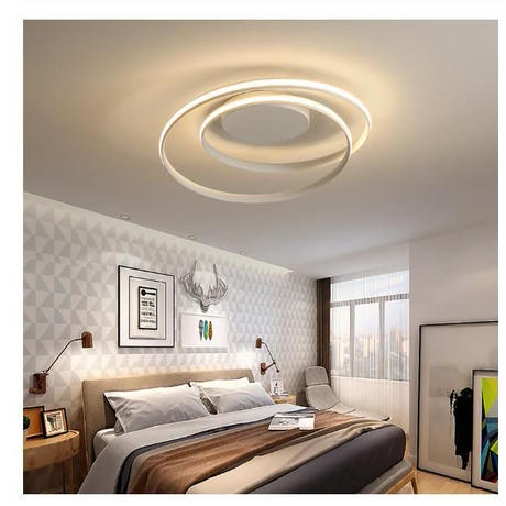 モダンLEDシーリングライト リビングルーム ベッドルーム 60×15㎝ ホワイト ブラック 2色 AC85-265V対応