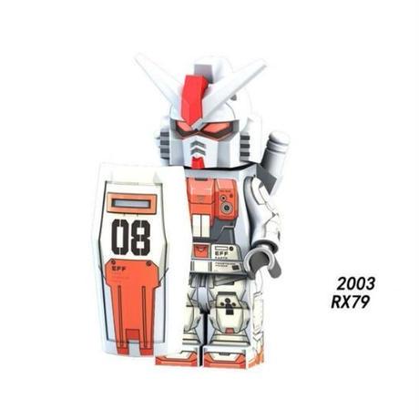 レゴ互換 機動戦士ガンダム ミニフィグ 8種類 RX-78  RX-79  RX-178 ガンダムなど  LEGO風