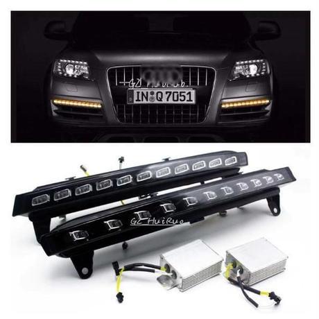 アウディ Audi Q7 2007-2009 LED DRL デイライト ポジションライト