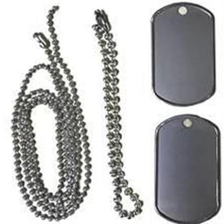 ドッグタグ 100枚セット 60cm チェーン付 シルバー 新品