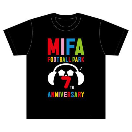 7th anniversary Tシャツ/黒