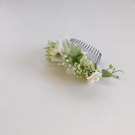 ボタニカルヘアコーム (petit white)