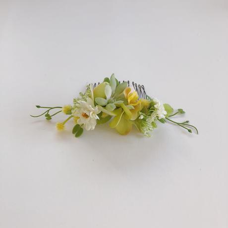 ボタニカルヘアコーム (petit yellow)
