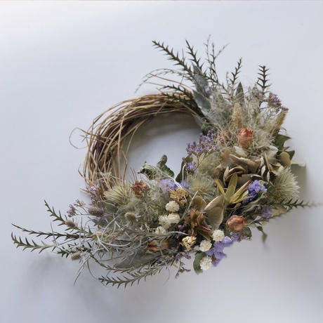 Dry flower Wreath