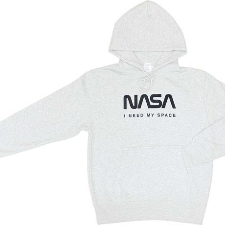 【特価品】NASA公認パーカー(ホワイト)/JERZEES/ロゴタイプ(ワーム)