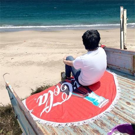 【コカコーラ】ラウンドビーチタオル