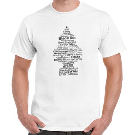 """リトル・ツリー """" Fragrance Tree """" Tシャツ (後染めホワイト)"""