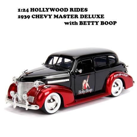 ベティブープ ダイキャストカー【Hollywood Rides】【1939 CHEVY MASTER DELUXE】