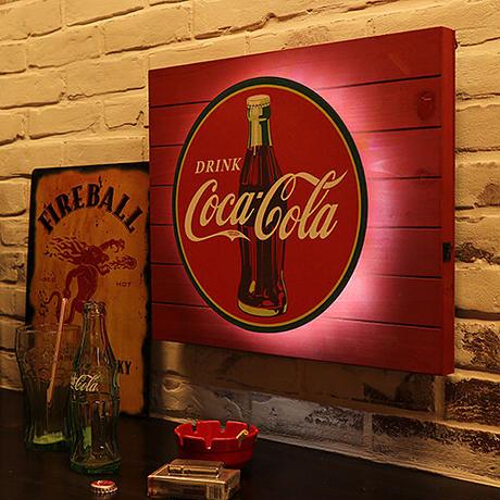 COKE バックリット LED プランク サイン DRINK COCA-COLA