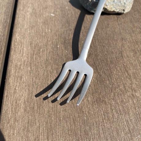 【つや消し】シャベル型カレースプーン&スパゲティフォーク  (ブラスト)