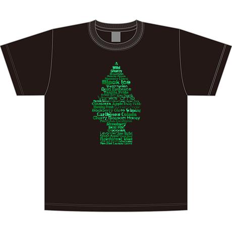 """リトル・ツリー """" Fragrance Tree """" Tシャツ (ブラック)"""