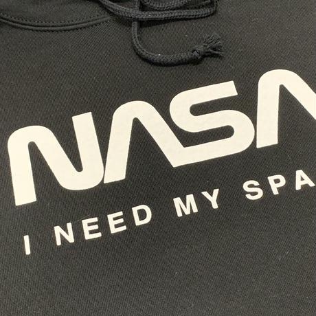 【特価品】NASA公認パーカー(ブラック)/JERZEES/ロゴタイプ(ワーム)