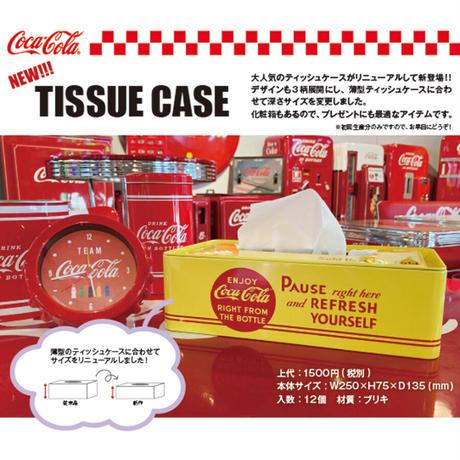 Coca-Cola ティッシュケース【Enjoy/イエロー】