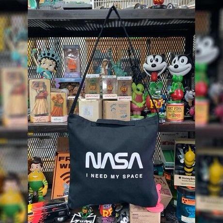 【特価品】NASA公認2ウェイショルダーバッグ(ブラック)/ロゴタイプ(ワーム)