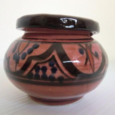 モロッコ灰皿 陶器   レッド
