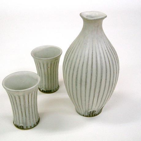 笠間焼 / 鎬(しのぎ)のグラス