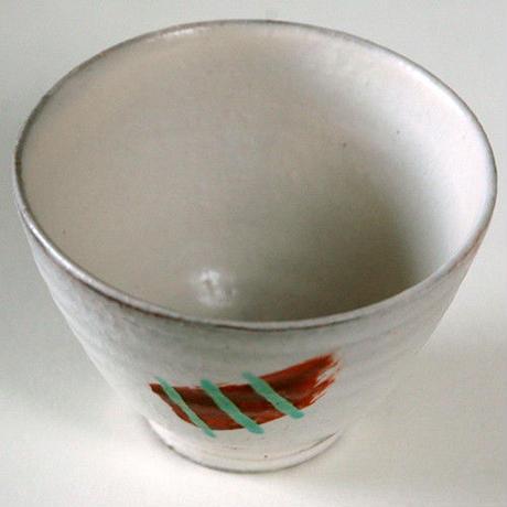 笠間焼 / 赤絵の湯のみ(たけのこ)