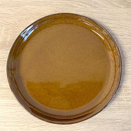 笠間焼 / うすくて軽い丸皿(L)(飴釉)