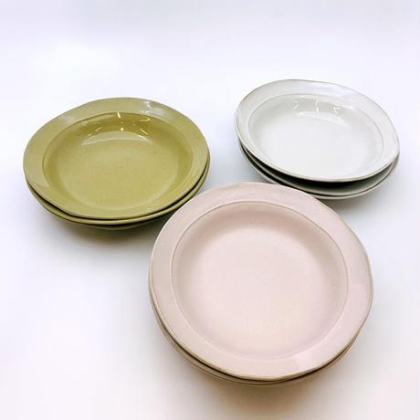 笠間焼 / うすくて軽い深丸皿(S)