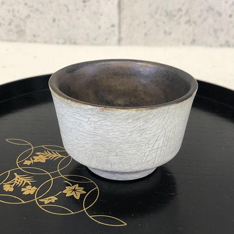 笠間焼 / ぐい呑(粉引×ラスター彩)