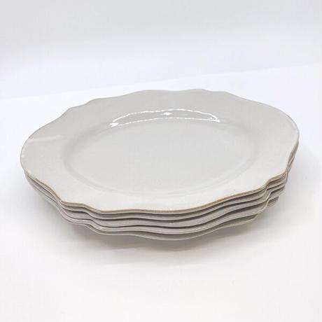 笠間焼 / うすくて軽い輪花皿ブルームワイド(白)