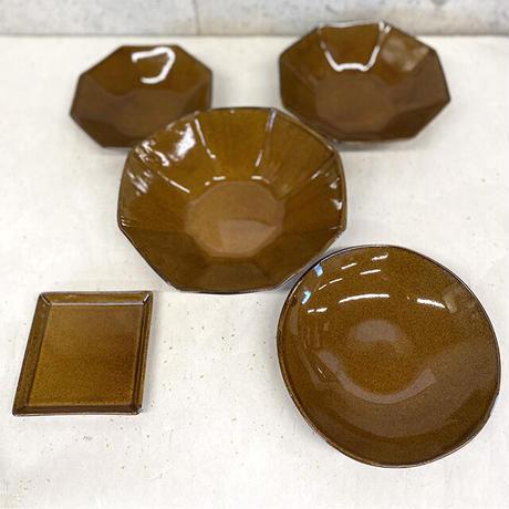 笠間焼 / うすくて軽いオクタンボウル(M)(飴釉)