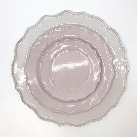 笠間焼 / うすくて軽い輪花皿ブルーム(S)(ピンク)