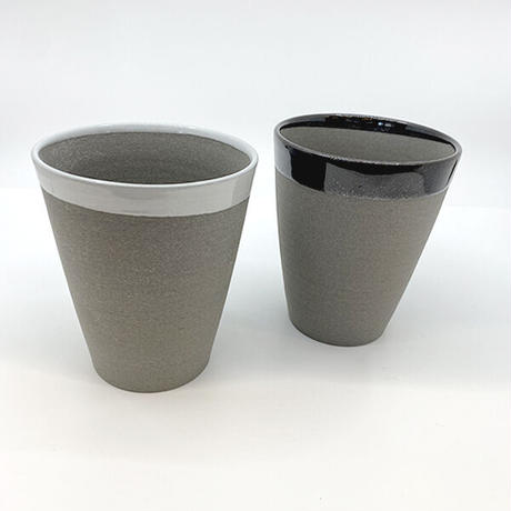 笠間焼 / 焼締ビアカップ(黒)