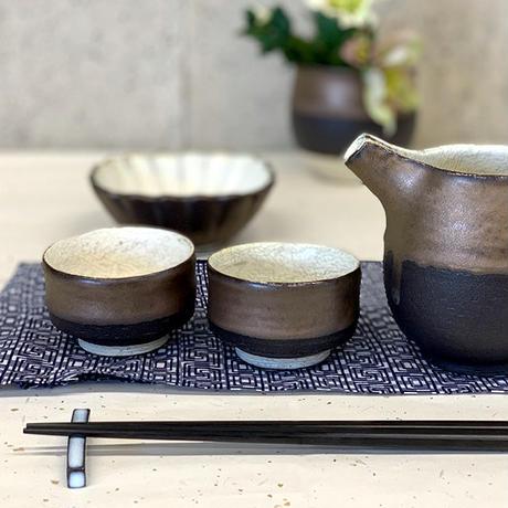 笠間焼 / ぐい呑(ラスター彩×粉引)