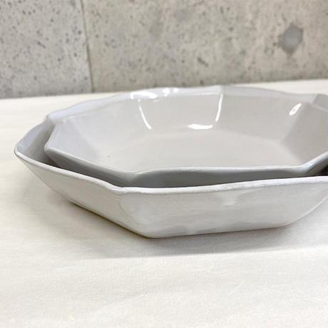 笠間焼 / うすくて軽いオクタンパスタプレート(L)