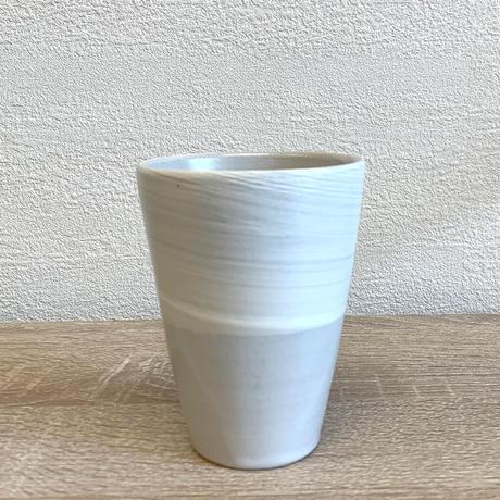 笠間焼 / 粉引のタンブラー(濃淡)
