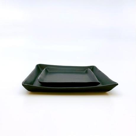 笠間焼 / うすくて軽いプレート(角)(S)