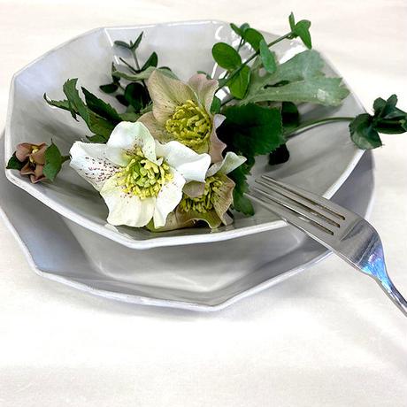 笠間焼 / うすくて軽いオクタンボウル(L)(白)