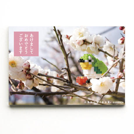 【NP067】nanoblock®年賀状 〜うぐいす〜