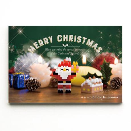 【NP089】nanoblock®クリスマスカード 〜サンタとちいさなお家〜