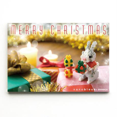 【NP082】nanoblock®クリスマスカード 〜クリスマスうさぎ〜