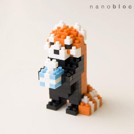 残りわずか【NP016】nanoblock®ポストカード 〜レッサーパンダ〜