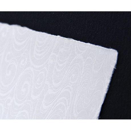 【S-023】手漉き和紙カード 〜観世水〜