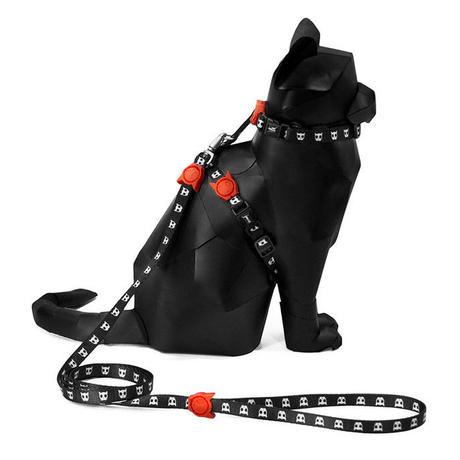 2287 zee.cat SKULL  HERNESS SET スカルリード・ハーネスセット