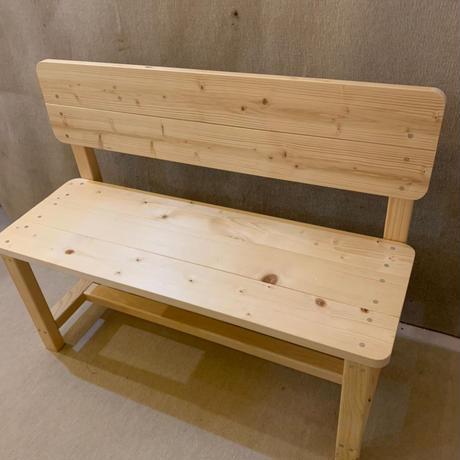背板付きベンチ(無垢)