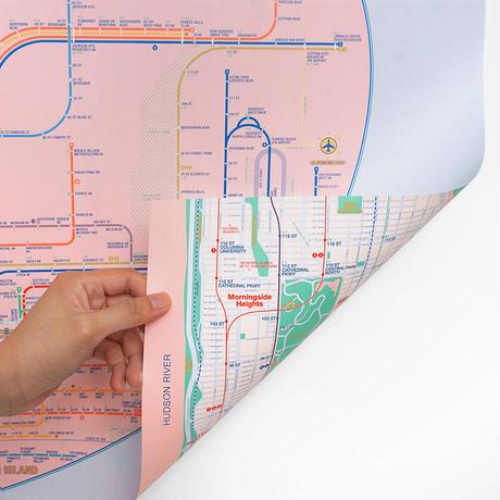 NYC pink | Railway poster
