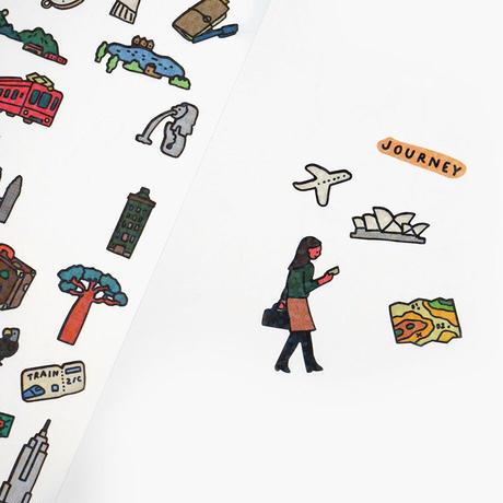 DIARY STICKER-JOURNEY   Sticker