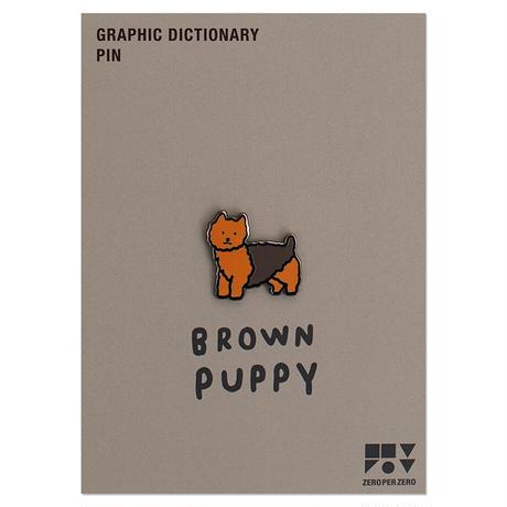 BROWN PUPPY | Animal Pin