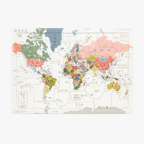 WORLD MAP (Korean ver.) PUZZLE | Jigsaw Puzzle