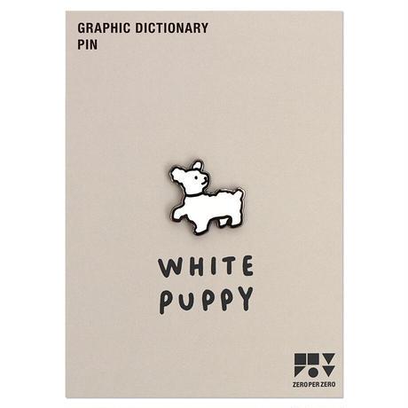 WHITE PUPPY | Animal Pin
