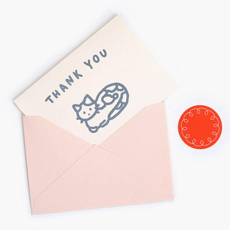 CAT (THANK YOU) | Pressed Card