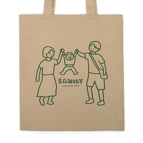 FAMILY JUMP beige | Eco bag