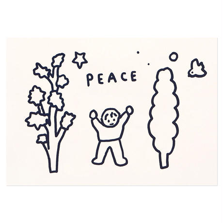 PEACE   Pressed Card