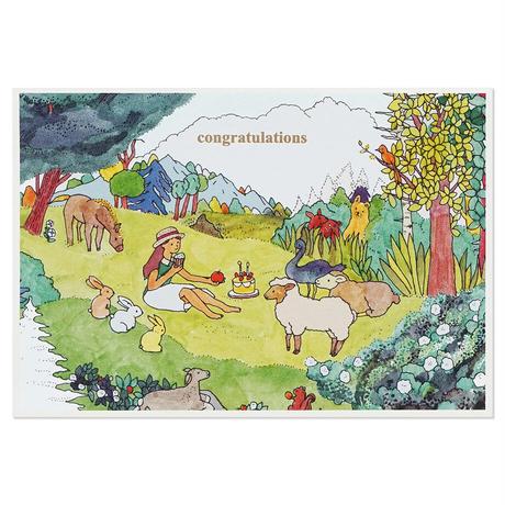 ANIMALS | Cake card