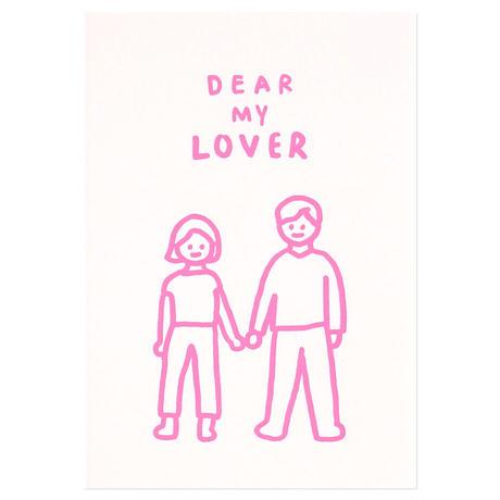 DEAR MY LOVER | Pressed Card